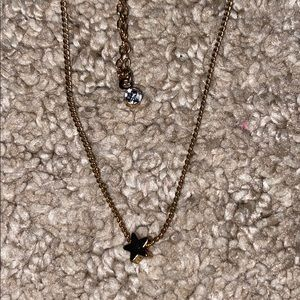 star and diamond layered necklace